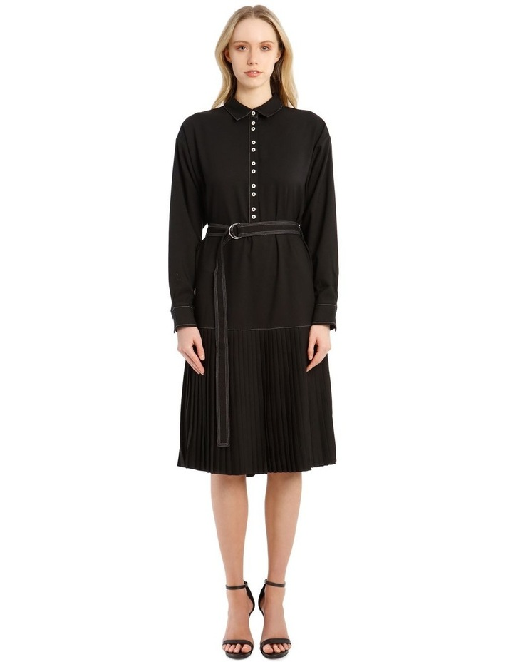 Long-Sleeve Drop Waist Dress image 1