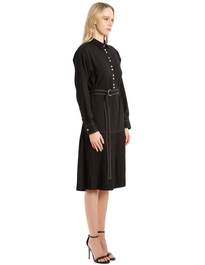 Long-Sleeve Drop Waist Dress image 2