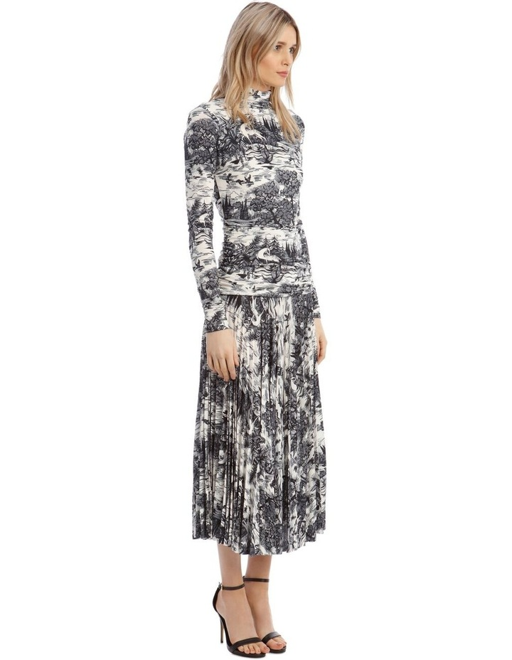 Forest Print Pleated Dress image 2