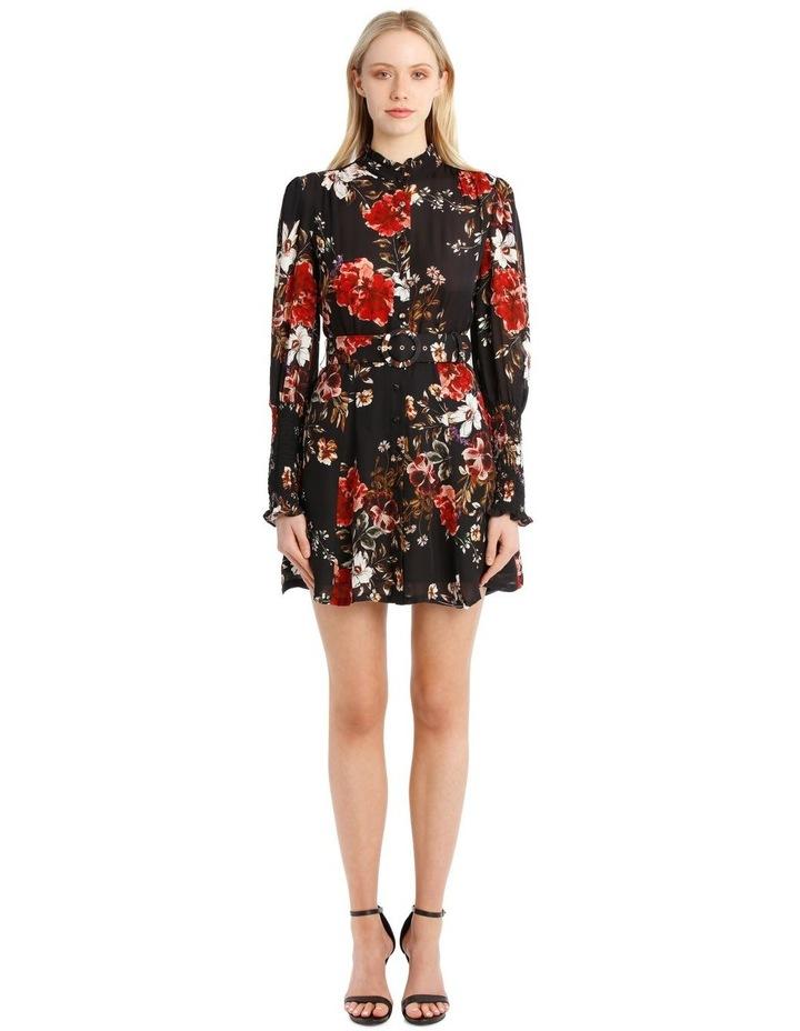 High-Neck Ruffle Mini Dress image 1