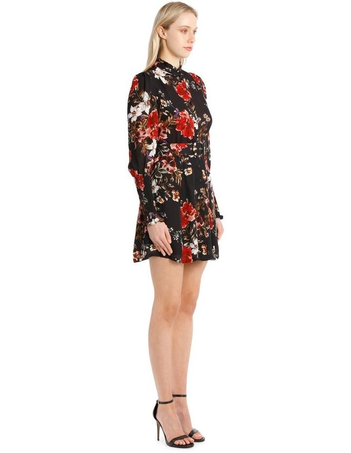 High-Neck Ruffle Mini Dress image 2