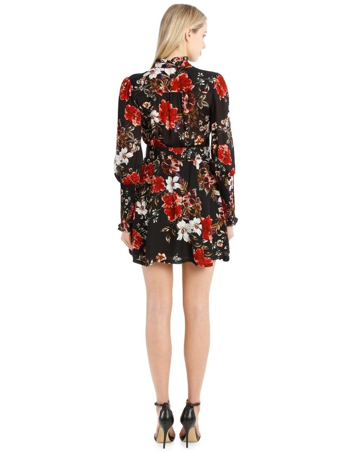 High-Neck Ruffle Mini Dress image 3
