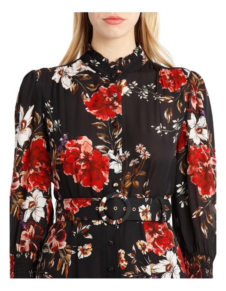 High-Neck Ruffle Mini Dress image 4