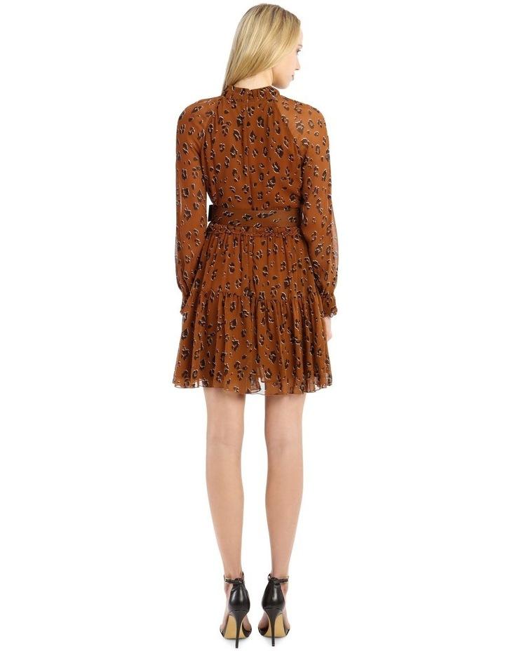 High Neck Button Mini Dress image 3