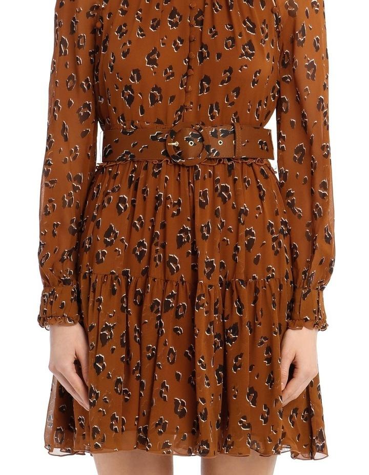 High Neck Button Mini Dress image 4