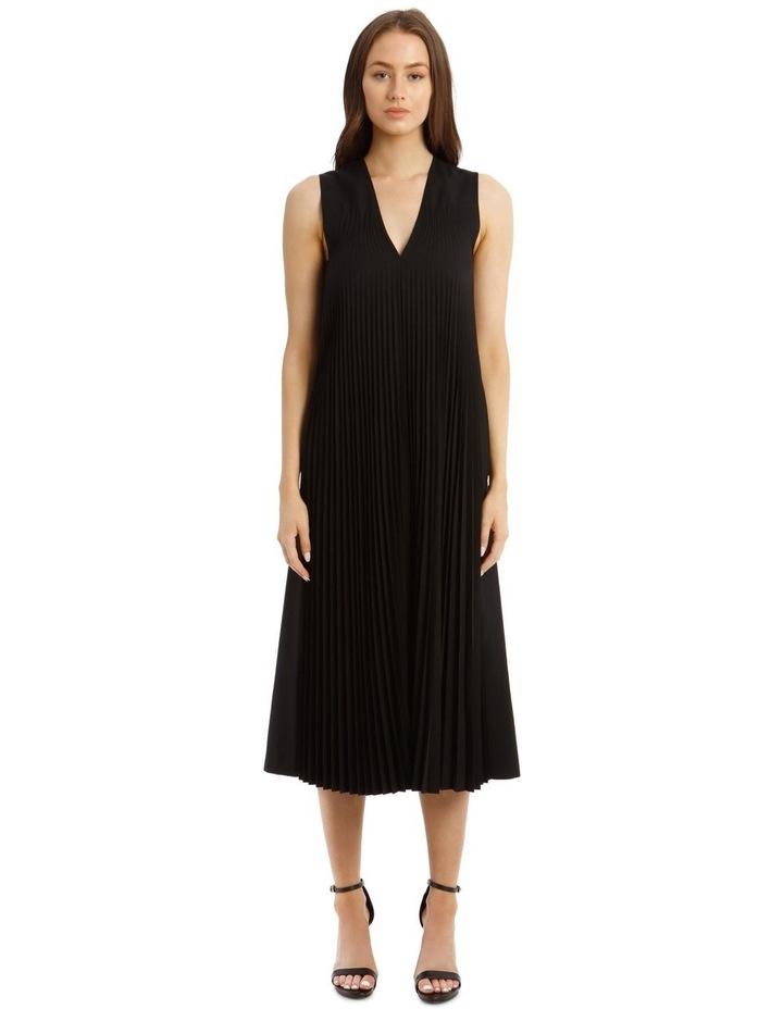 Enid Pleated Wool Dress image 1