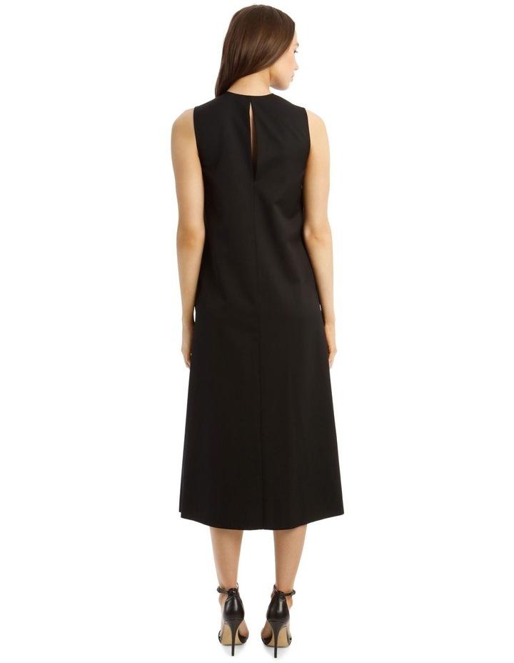 Enid Pleated Wool Dress image 3