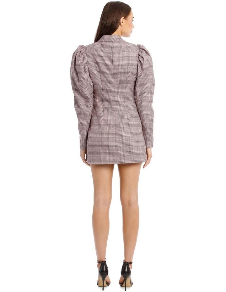 Carol Puffed-Sleeve Check Mini Dress image 2