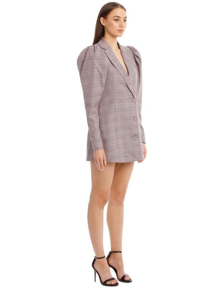 Carol Puffed-Sleeve Check Mini Dress image 3