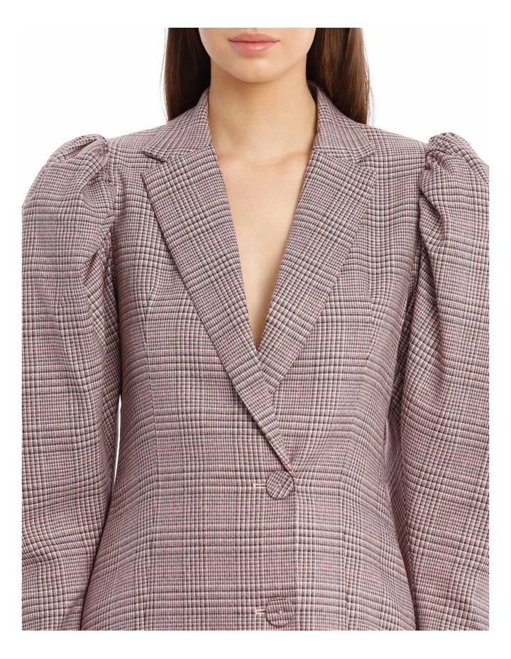 Carol Puffed-Sleeve Check Mini Dress image 4