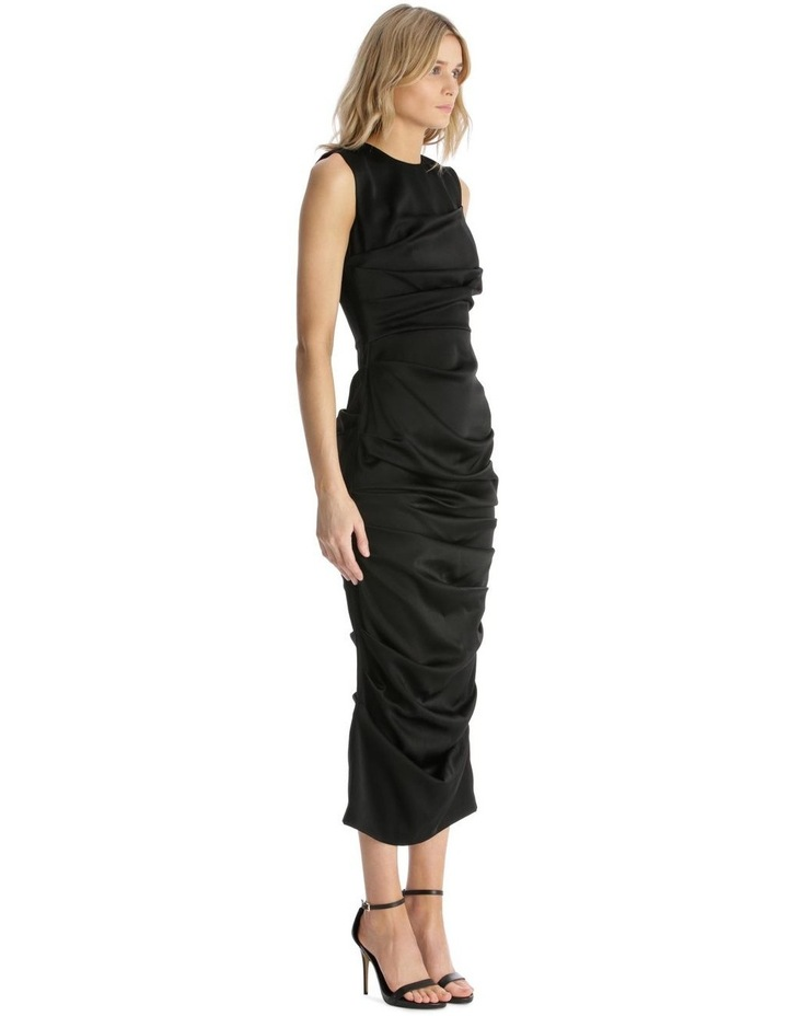 Satin Crew Ruched Dress image 2