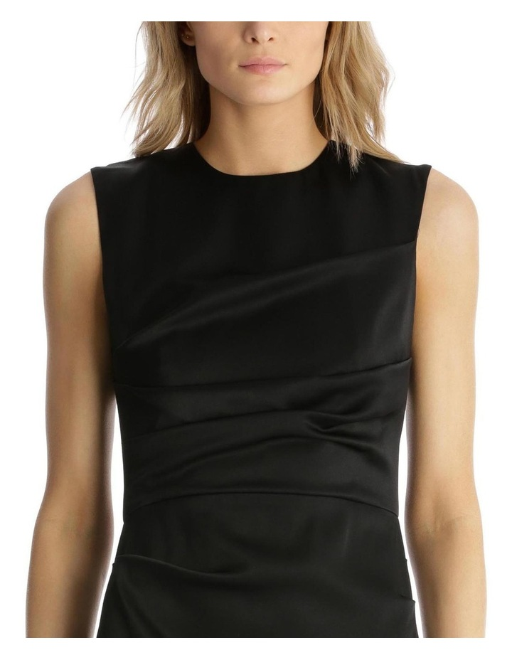 Satin Crew Ruched Dress image 4