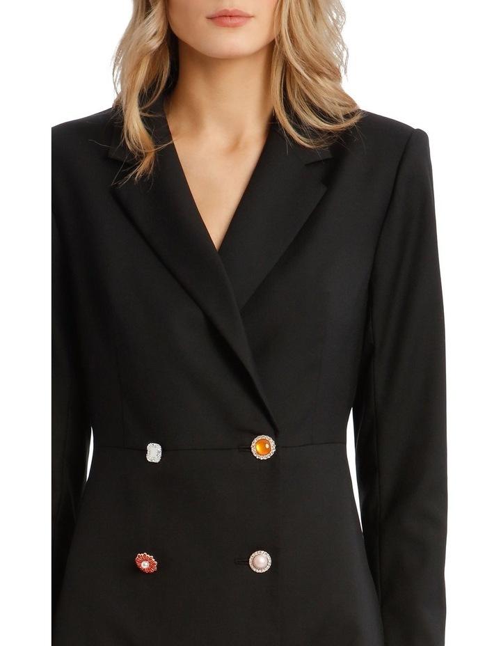 Button Detail Blazer Mini Dress image 4