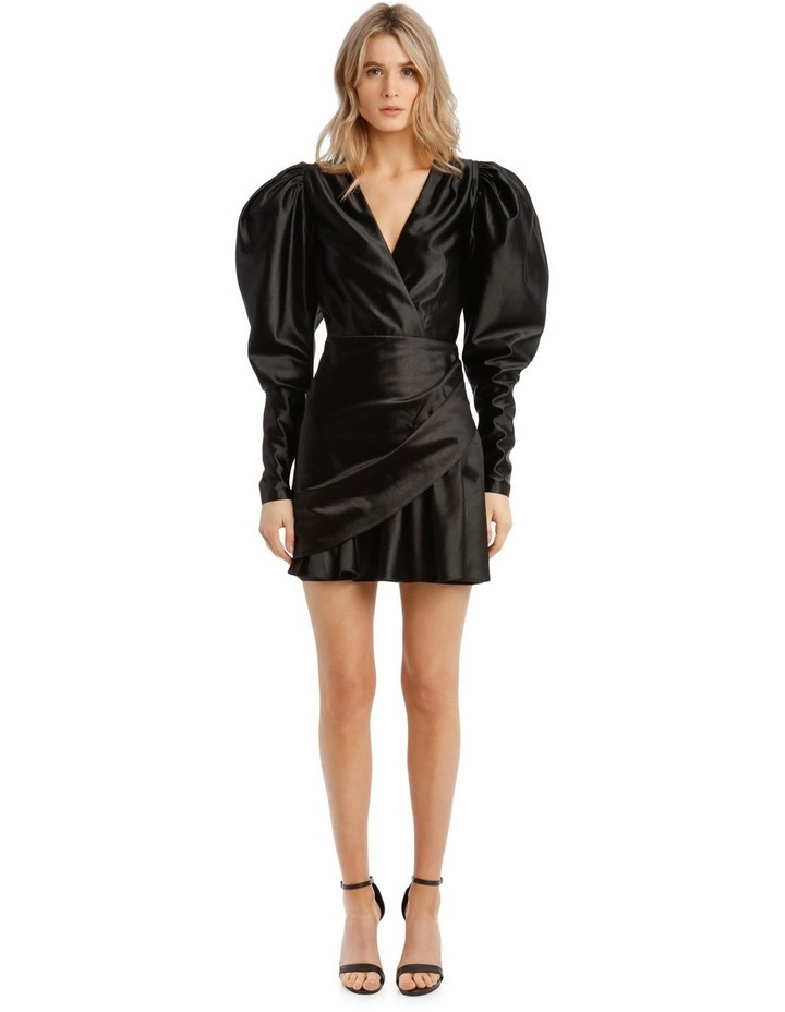 Puffed Long-Sleeve Mini Dress image 1