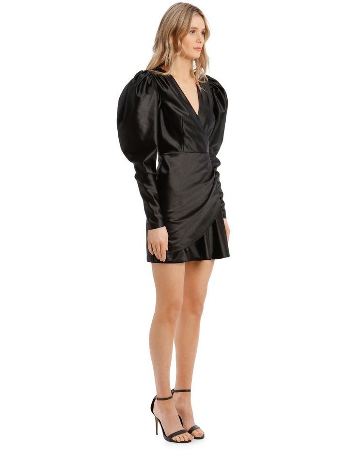 Puffed Long-Sleeve Mini Dress image 2