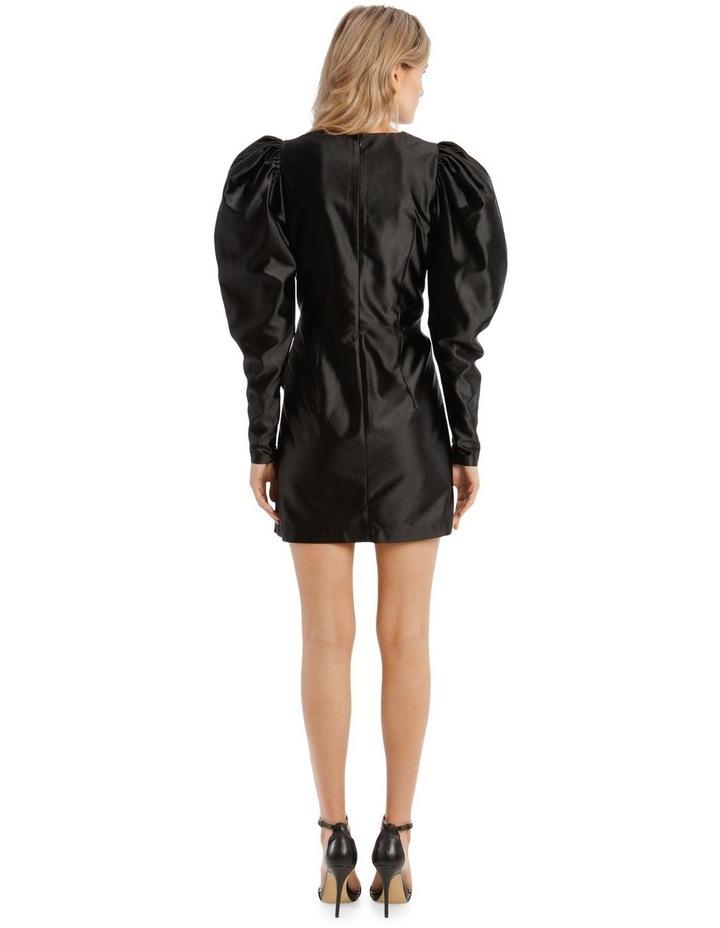 Puffed Long-Sleeve Mini Dress image 3