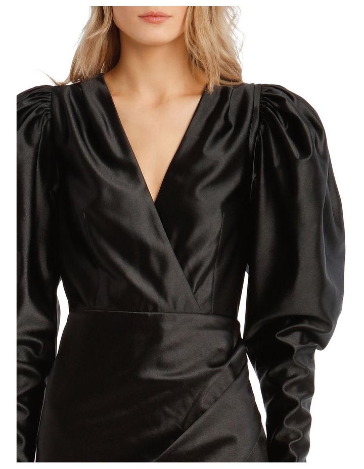 Puffed Long-Sleeve Mini Dress image 4