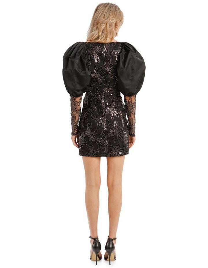 Embellished Puffed-Sleeve Mini Dress image 3
