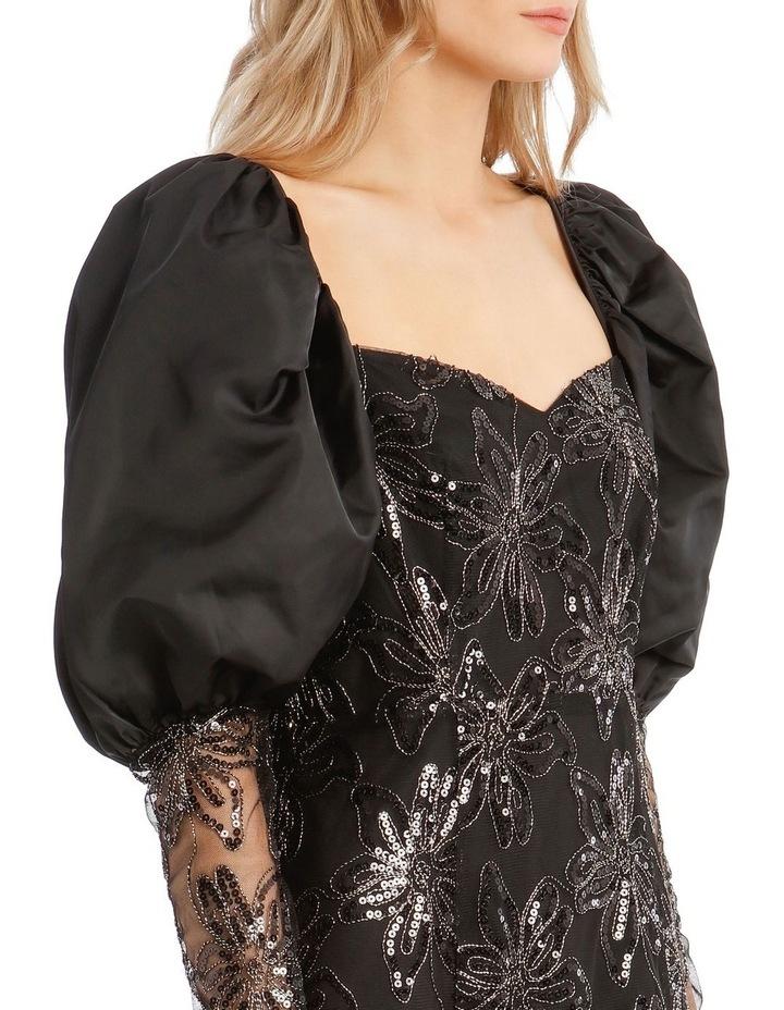 Embellished Puffed-Sleeve Mini Dress image 4