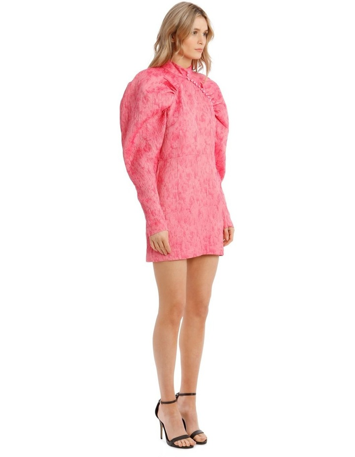 Pink Metallica Puffed-Sleeve Mini Dress image 2