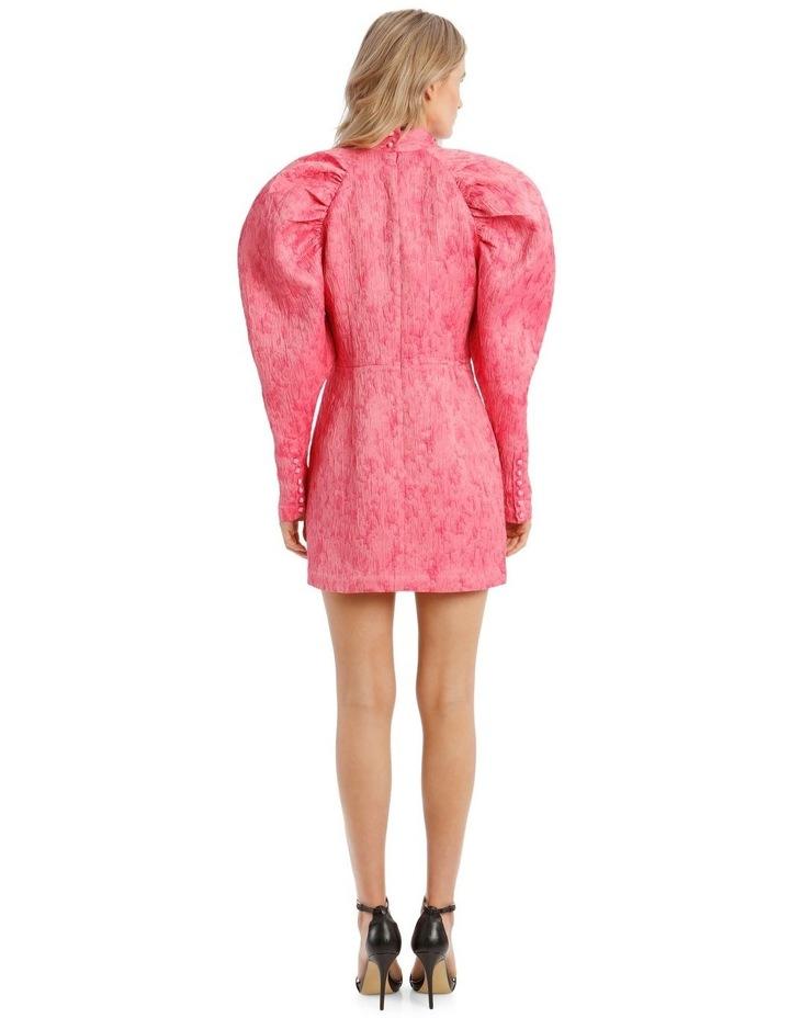 Pink Metallica Puffed-Sleeve Mini Dress image 3