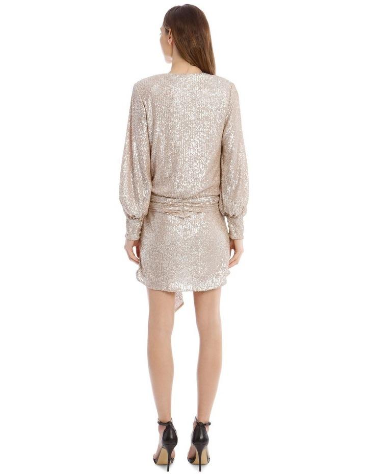 Sequin-Embellished Drape-Front Mini Dress image 3