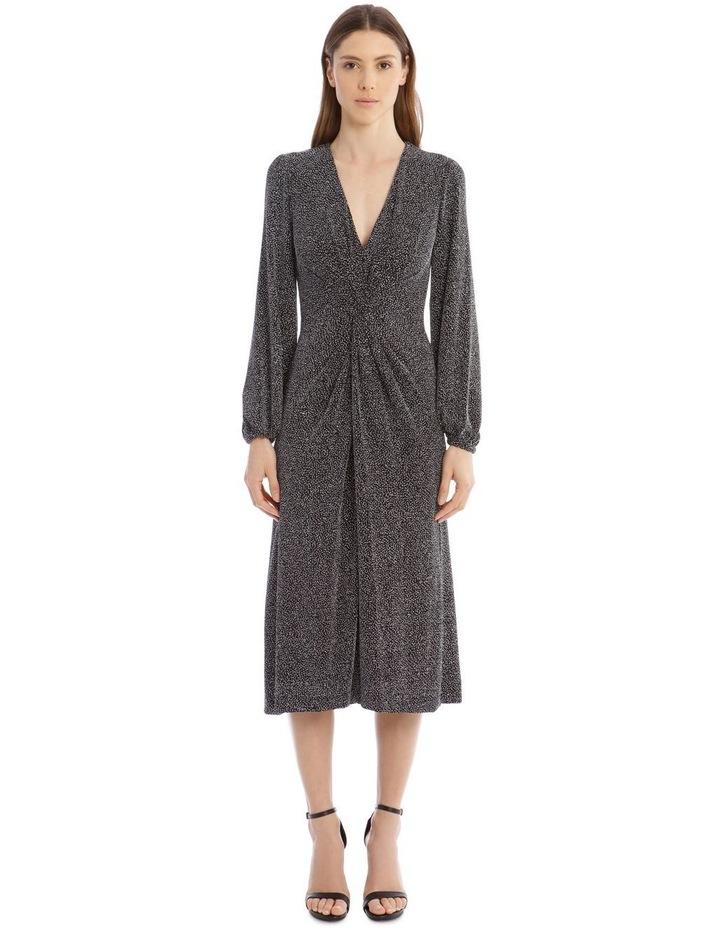 Glitter Jersey Twist-Front Midi Dress image 1