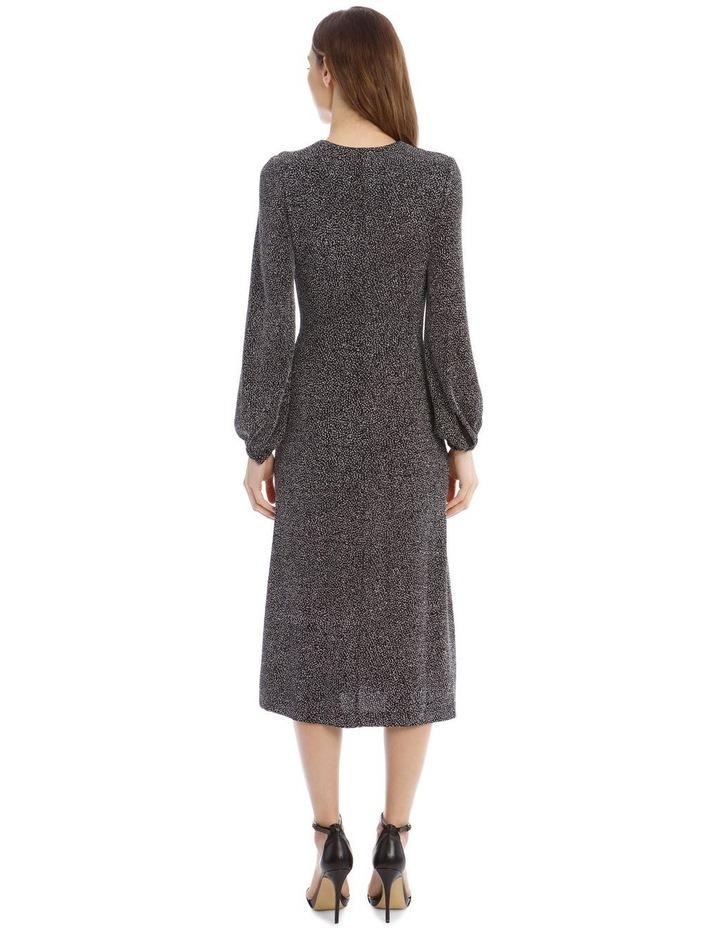 Glitter Jersey Twist-Front Midi Dress image 3