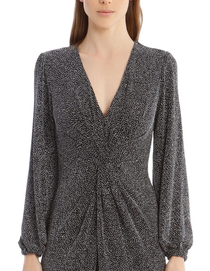 Glitter Jersey Twist-Front Midi Dress image 4
