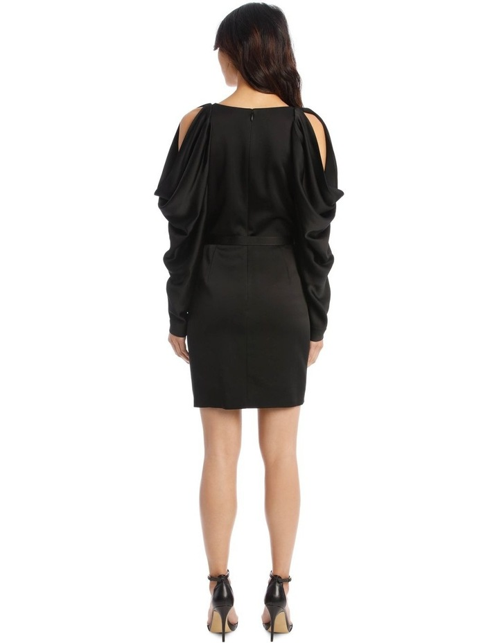 Classic Belted Mini Dress with Pleated Sleeves image 3
