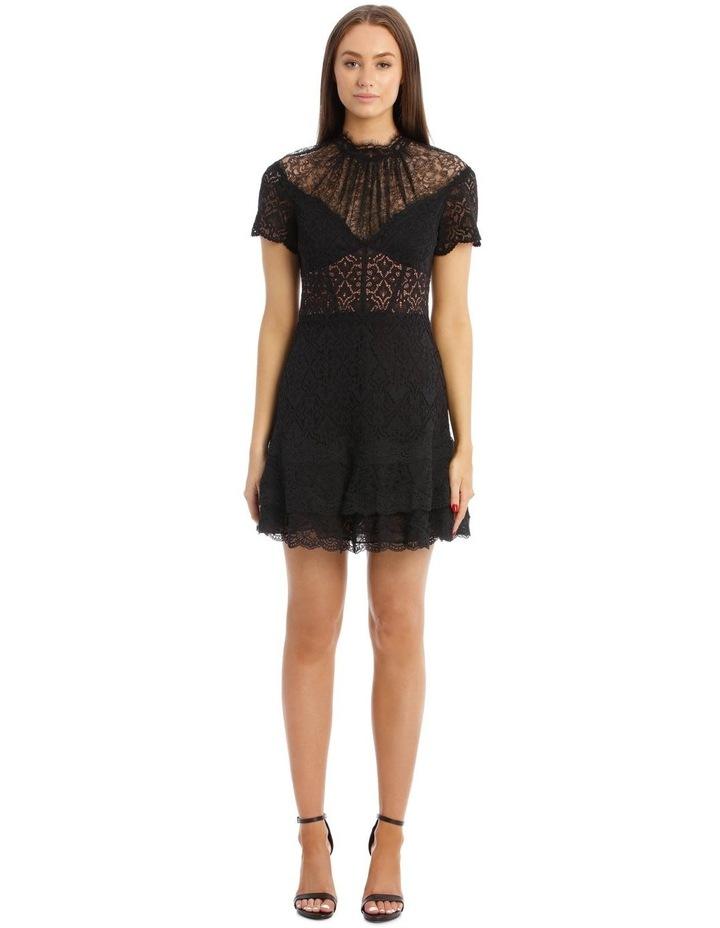 Lace Ruffle Mini Dress image 1