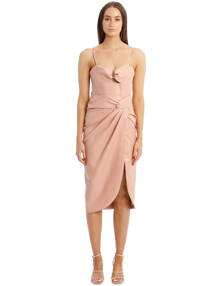 Vegan Leather Bustier Dress image 1