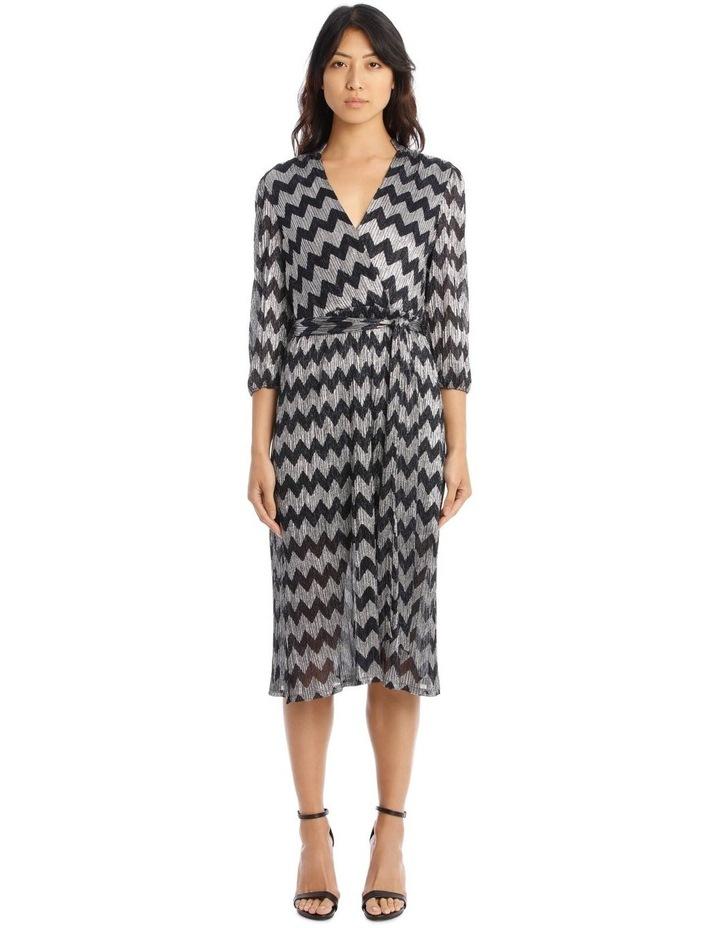Katina Gathered-Belted Midi Dress image 1