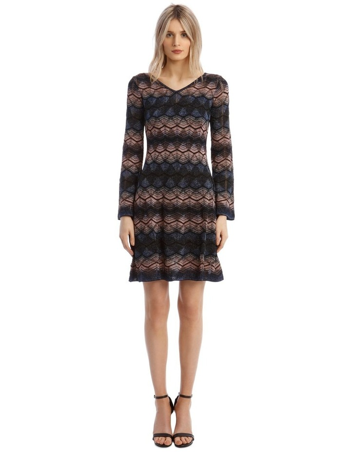 Bell Sleeve Glitter Mini Dress image 1