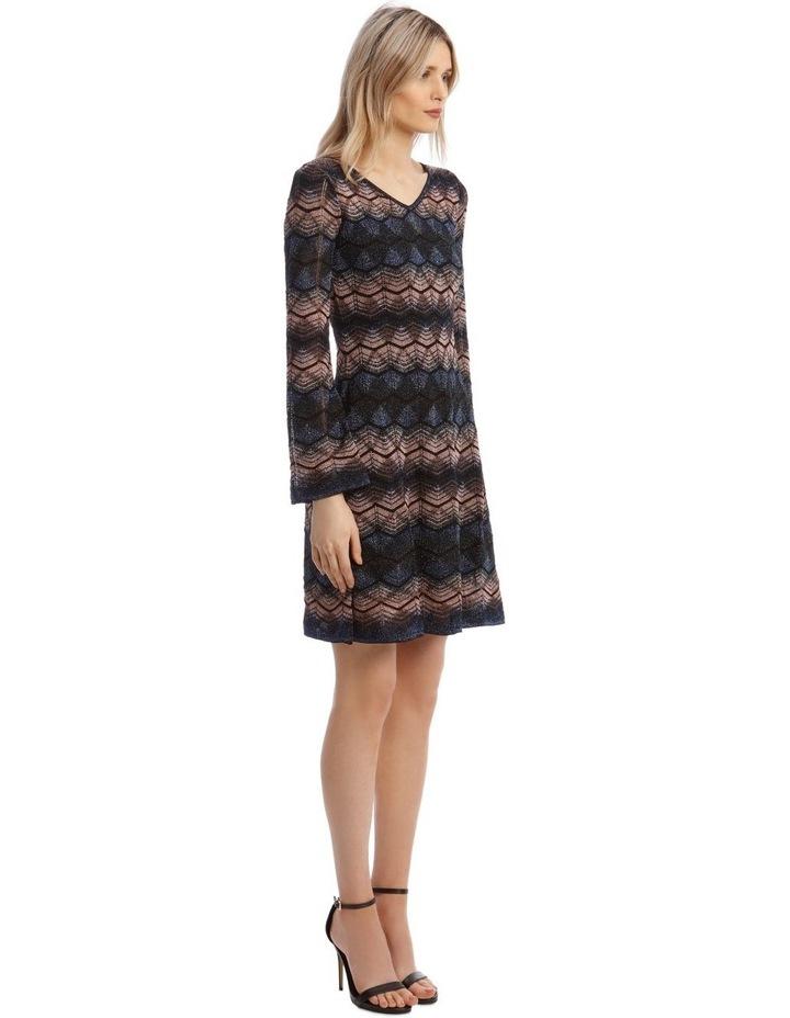 Bell Sleeve Glitter Mini Dress image 2