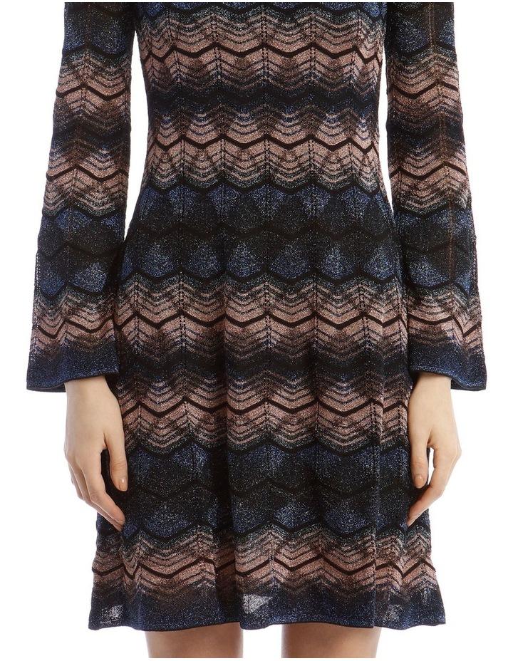 Bell Sleeve Glitter Mini Dress image 4
