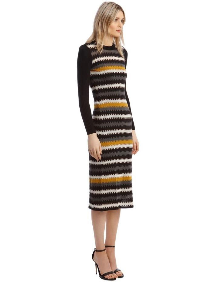 Long-Sleeve Knitted Midi Dress image 2