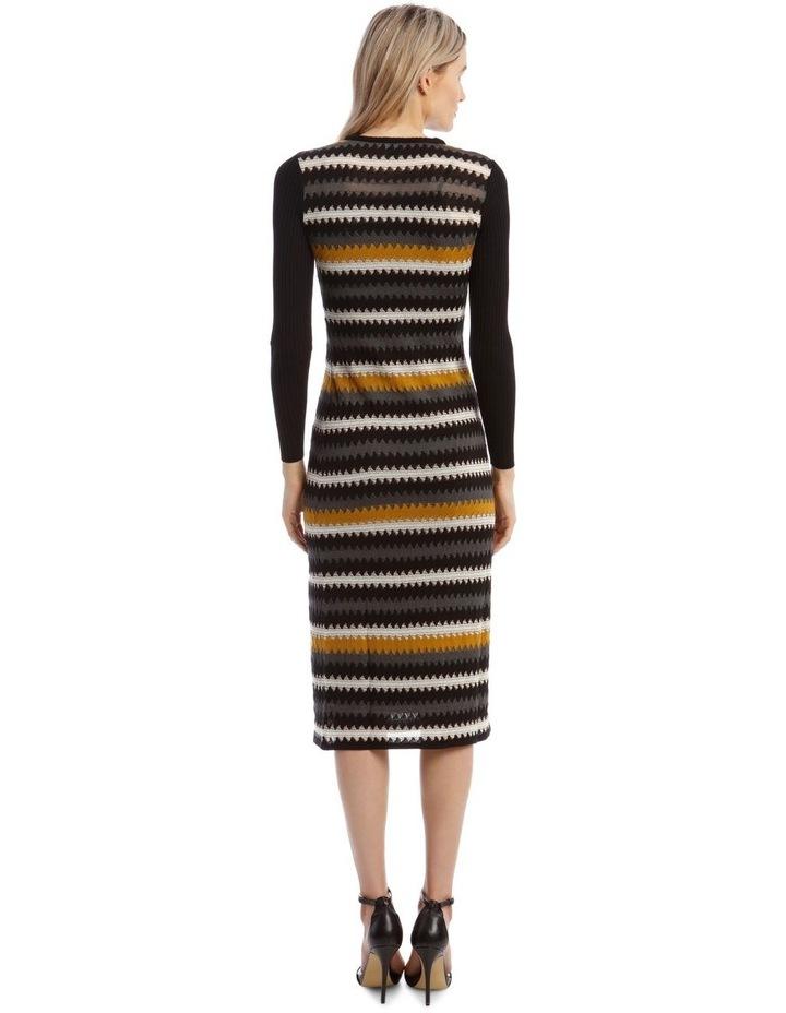 Long-Sleeve Knitted Midi Dress image 3