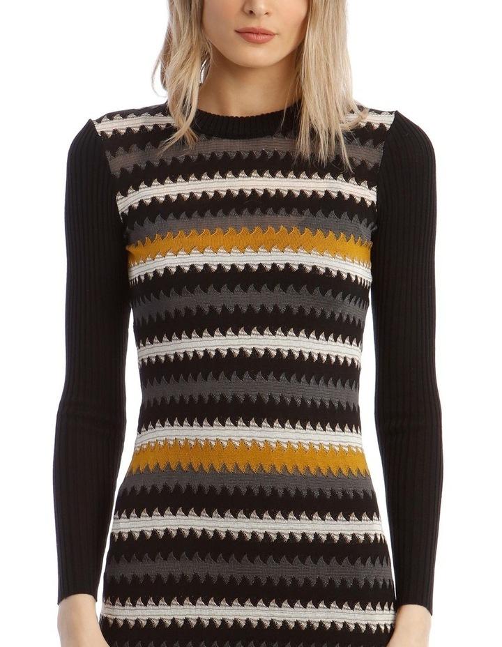 Long-Sleeve Knitted Midi Dress image 4