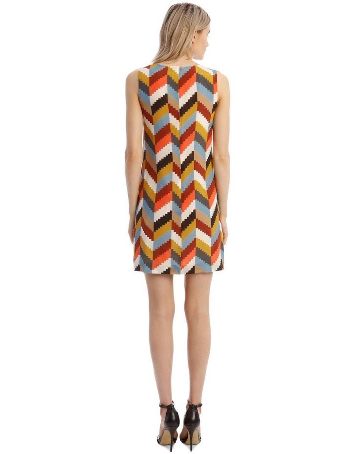 Printed Sleeveless Shift Dress image 3