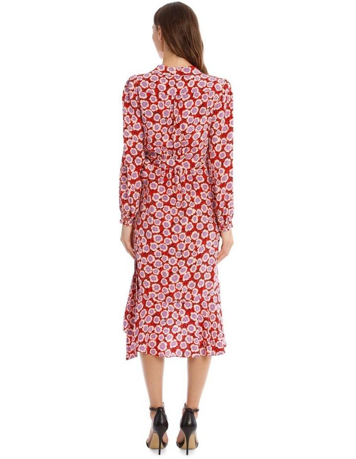 Carla Two Silk Crepe De Chine Wrap Dress image 3