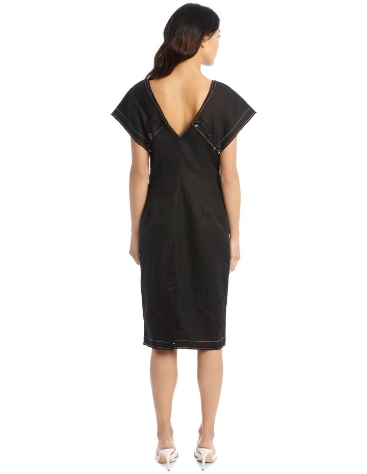 Contrast Button-Front Dress image 3