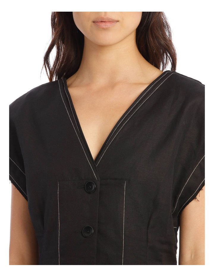 Contrast Button-Front Dress image 4