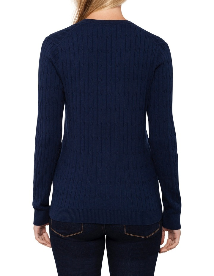 Im Ivy Cable V-Neck Sweater image 2