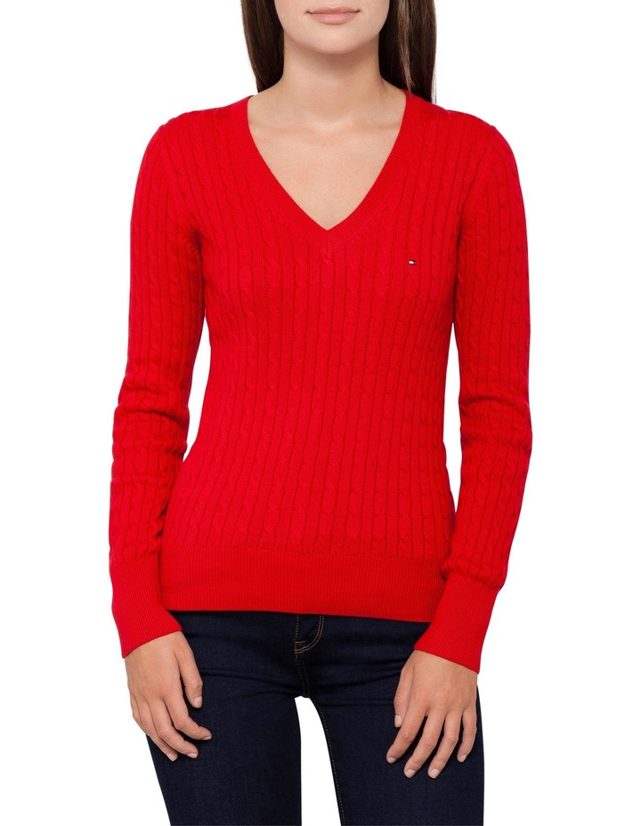 Im Ivy Cable V-Neck Sweater image 1