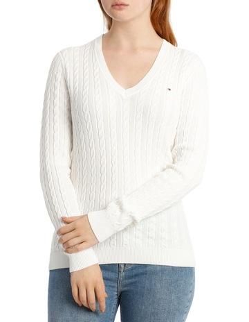 157edc9b44 Tommy Hilfiger Im Ivy Cable V-Neck Sweater