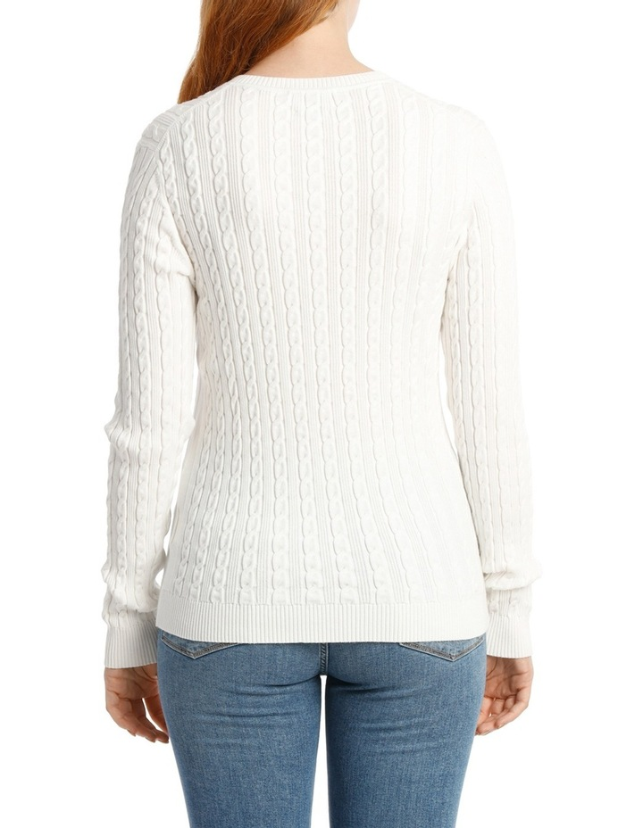 Im Ivy Cable V-Neck Sweater image 3