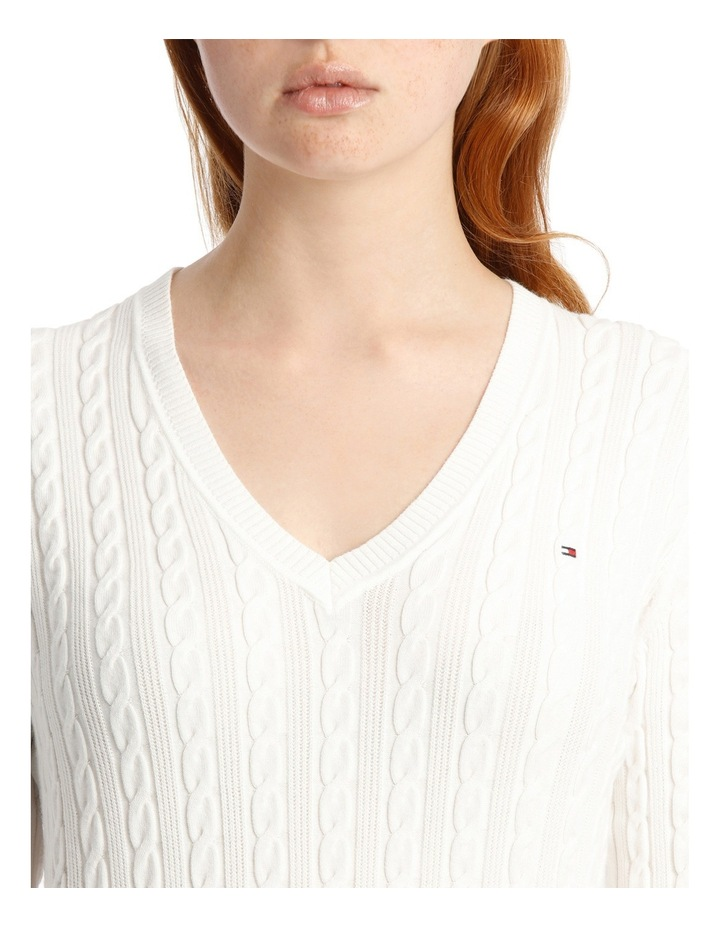 Im Ivy Cable V-Neck Sweater image 4