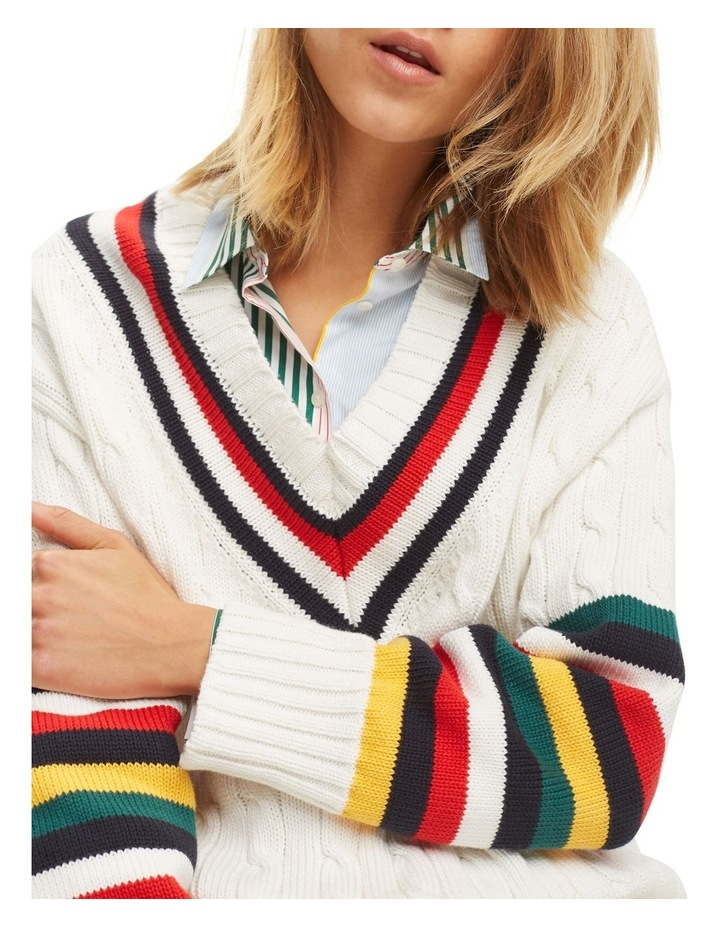 51e128a4690 Cable Knit Cricket Jumper image 4