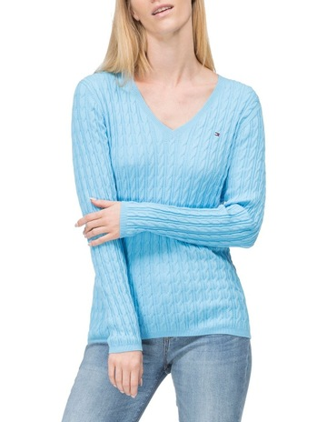 1b3116d67 Tommy HilfigerClassic Cable Knit V-Neck Sweater. Tommy Hilfiger Classic  Cable Knit V-Neck Sweater